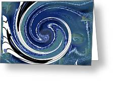 Angry Ocean Greeting Card
