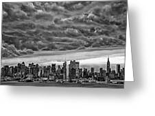 Angry Skies Over Nyc Greeting Card