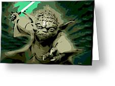 Angry Yoda Greeting Card