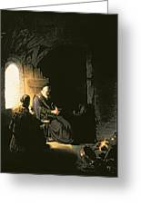 Anna And The Blind Tobit Greeting Card