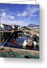 Annalong Harbour, Near Mountains Of Greeting Card