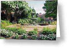Annapolis Fountain Garden Greeting Card
