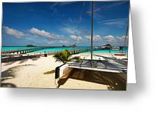 Another Day. Maldives Greeting Card