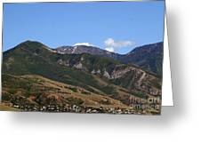 Another View Of Salt Lake City Greeting Card