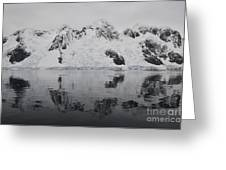 Antarctic Mountains Reflected Greeting Card