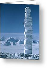 Antarctic Snowman Greeting Card