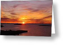 Antarctic Sunset 02 Greeting Card by David Barringhaus