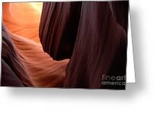 Antelope Canyon Living Rock Greeting Card