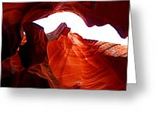 Antelope Canyon Skylight Greeting Card