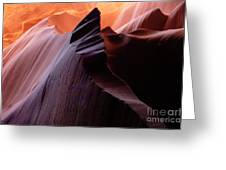 Antelope Canyon Story Of The Rock Greeting Card