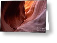 Antelope Canyon Written In Stone Greeting Card