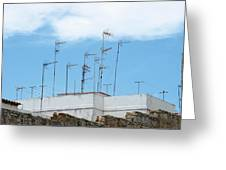 Antenna In The Sky Greeting Card