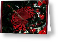 Antherium Abstract Greeting Card