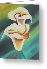 Anthurium Flowers Greeting Card by Rejeena Niaz