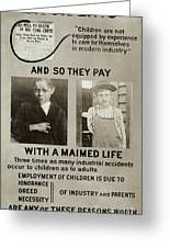 Anti-child Labor Poster Greeting Card
