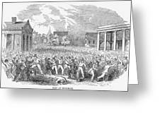 Anti-german Riot, 1851 Greeting Card