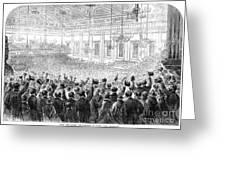 Anti-slavery Meeting, 1863 Greeting Card