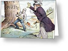 Anti-trust Cartoon, 1904 Greeting Card