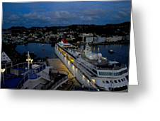 Antigua Dusk Greeting Card
