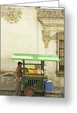 Antigua Fruit Vendor Greeting Card
