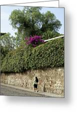 Antigua Street Scene Greeting Card