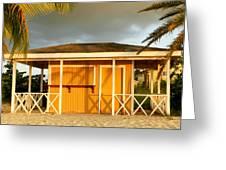 Antiguan Beach Hut Greeting Card