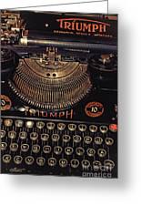 Antiquated Typewriter Greeting Card