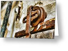Antique - Door Rail - Rusty Greeting Card