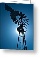 Antique Aermotor Windmill Greeting Card
