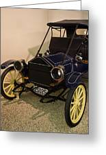 Antique Automobile With Yellow Spoke Wheels Greeting Card