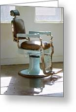 Antique Barber Chair Greeting Card