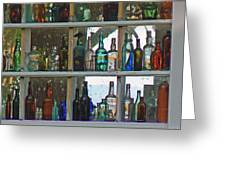 Antique Bottle Collection  Greeting Card