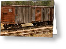 Antique Boxcar Greeting Card