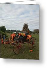 Antique Buggy In Fall Colors Greeting Card