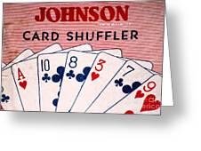 Antique Card Shuffler Greeting Card