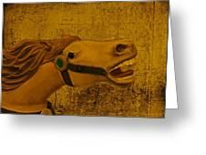 Antique Carousel Appaloosa Horse Greeting Card