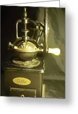 Antique Coffee Grinder Greeting Card