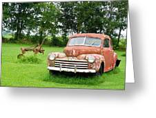 Antique Ford Car 6 Greeting Card