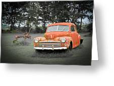 Antique Ford Car 7 Greeting Card