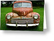 Antique Ford Car 8 Greeting Card