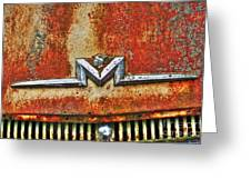 Antique Mercury Auto Logo Greeting Card