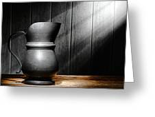 Antique Pewter Pitcher Greeting Card
