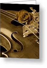 Antique Violin Viola Greeting Card