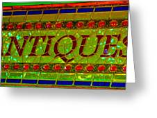 Antiques Greeting Card
