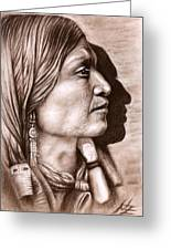 Apache Chief Greeting Card