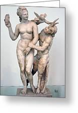 Aphrodite Pan And Eros Greeting Card