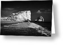Aphrodites Rock Petra Tou Romiou Republic Of Cyprus Europe Greeting Card