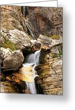 Apikuni Waterfall Greeting Card