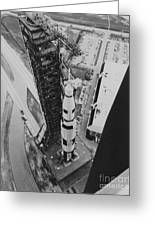 Apollo 500-f Saturn V Rocket Greeting Card by NASA / Science Source