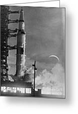 Apollo 8: Launch, 1968 Greeting Card